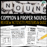 Nouns - Common and Proper Nouns - Worksheets, Posters & Quiz