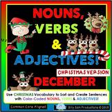 Nouns, Verbs & Adjectives DECEMBER - CHRISTMAS Activities!