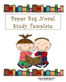 Novel Study paper bag template