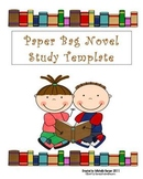 Novel Study paper bag template