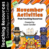 November Activities (Upper Elementary)