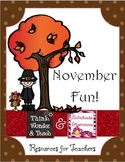 November Activity Pack (Monthly Series!)