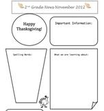 November Classroom Newsletter