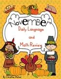 November Daily Language and Math Practice
