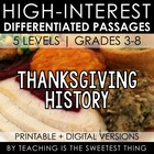[FREE] November: High-Interest Differentiated History Passage