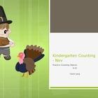 November Kindergarten Counting