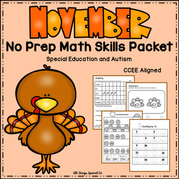 November Math Skills - Special Education and Autism