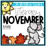 November Morning Bright {Kindergarten Literacy Morning Work}