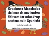 November Scambled Sentences in Spanish