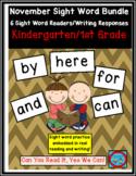 November Sight Word Bundle: 6 Emergent Readers/Writing Res