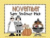 November Super Sentence Pack