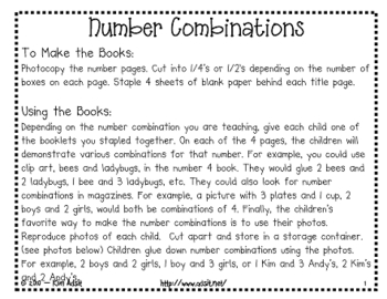 Number Combinations - Making Books