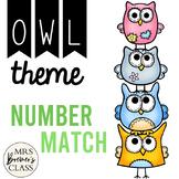 Number Match {Chevron Owl}