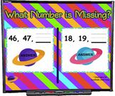 Number Order Planets SMART BOARD Game