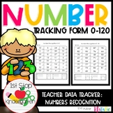 Number Recognition Assessment Tracker 0-120