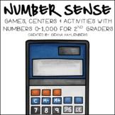Number Sense 0-1000: 2nd Grade Common Core Math Centers