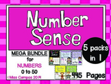 Number Sense Development to Fifty (BIG BUNDLE - Five in One)