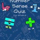 Number Sense Quiz