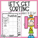 Number Sort {10-20 Cut and Paste Activity}