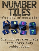 Number Tiles: 40 Sets {Hard Good}