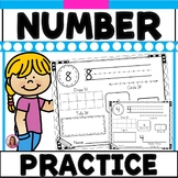 Number Practice Pages  (Numbers 0-20)