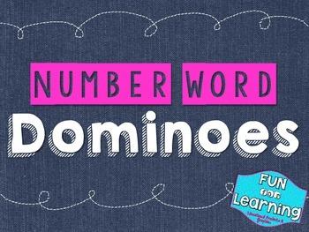 Number Word Dominoes {Freebie!}