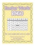Number Words Bingo