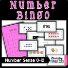 Number bingo 0-10: A year of Number Sense!
