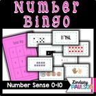 Number bingo 0-10: A year of Number Sense!