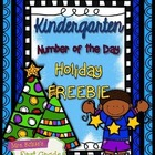 Number of the Day {Holiday FREEBIE} Kindergarten Math!