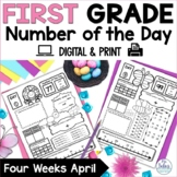 Number of the Day {Signs of Spring} First Grade Math April