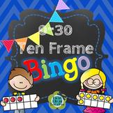 Numbers 0-30 Ten Frame Bingo!