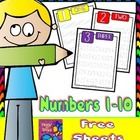 Numbers 1-10  FREE Tracing Sheets
