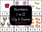 Numbers 1 to 12 Clip It Game {Common Core Counting and Car