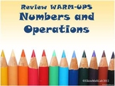 Numbers and Operations Warm Ups and Bell Work