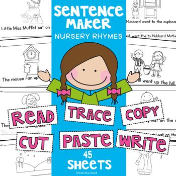 Nursery Rhymes Writing Worksheets - Differentiated