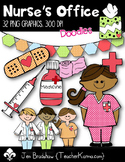 Nurse's Office Clip Art ~ Commercial Use OK ~ Bandaid ~ Medicine