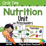 Nutrition - Centers and Circle Time Preschool Unit