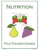 Nutrition File Folder Games
