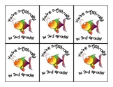 """O-fish-ally in 3rd Grade"" Gift Tags"