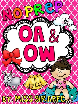 OA and OW Worksheets & Activities {NO PREP!}