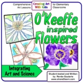 O'Keeffe-Inspired Flowers Art Lesson