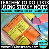 ORGANIZING POST-ITS {Blackline Design} classroom management tool