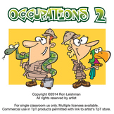 Occupations Cartoon Clipart Vol. 2