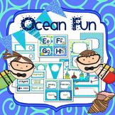 Ocean Fun Editable Organization and Decor Set