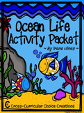 Ocean Life Choice Activity Packet: No Prep Cross-Curricula