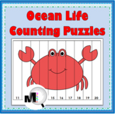 Ocean Life Counting Puzzles - Set 1