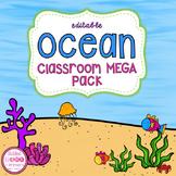 Ocean Theme Classroom MEGA Bundle (editable)