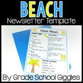 Beach Newsletter Template