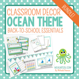 Ocean/Beach Classroom Theme {Includes EDITABLE Pages}